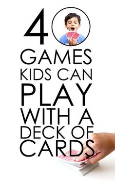 40 Card Games For Kids // www.deliacreates.com