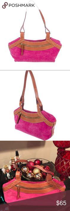 Kate♠️♠️♠️♠️ Cute HOT pink Suede purse 👛 minor wear on All corners-Cute bag😀 kate spade Bags Shoulder Bags