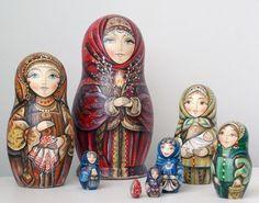 Russian matryoshka Easter palm Sunday handmade exclusive #handmade