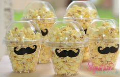 Mustache Birthday Party, Set 12- You Choose Party Cups, Popcorn Favor Cups