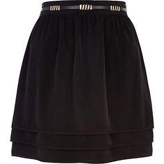 Black tiered skater skirt £25.00