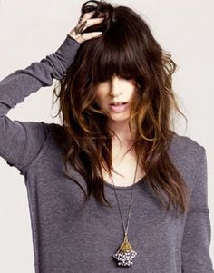 hairstyles with bangs | Heavy Bangs With Layers  http://www.hairstylo.com/2015/07/hairstyles-with-bangs.html