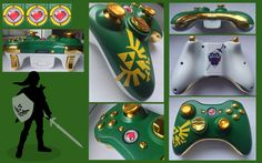 The Legend of Zelda Custom Xbox 360 Controller by CARDI-ology.deviantart.com on @deviantART