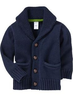 Little college professor. Love it.  Shawl-Sweater Cardis for Baby   Old Navy