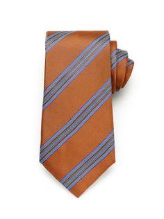 Satin Stripe Tie - Pumpkin (http://noeliasanchez.jhilburn.com/products/satin_stripe_tie/pumpkin) $89