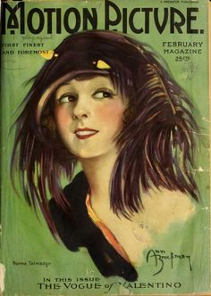 Norma Talmadge.  Great  hat. Motion Picture Magazine