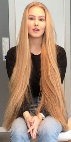 Addicted To Long Hair: Photo Hair Lights, Light Hair, Beautiful Redhead, Beautiful Long Hair, Gorgeous Hair, Really Long Hair, Long Hair Video, Long Natural Hair, Tips Belleza