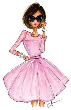 Anum Tariq Illustrations - The Pink Dress Print - Breast Cancer Research Foundation