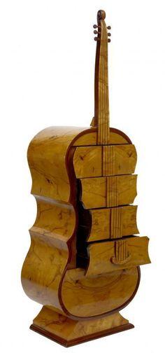 Deco Double Bass Chest Drawer www.canonburyanti...