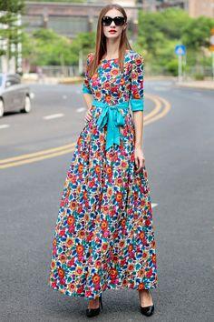 Long Cotton Dresses - Dress Xy
