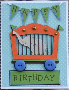 Cricut Birthday Card.  Everyday Pop-Up Cards, Everyday Paper Dolls and Country Life Cartridges.  *