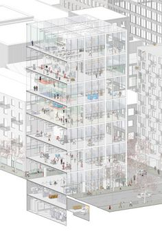 Simon Nilsson - Corner Factory - Axonometric Section
