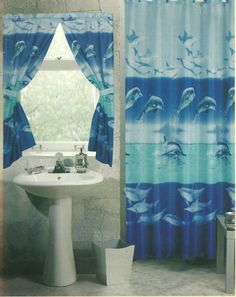 Shower Curtain One. Window Curtain Set One. PEVA
