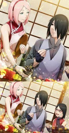 OMG Sasuke smile at Sakura! Anime Naruto, Naruto Uzumaki, Sasuke Uchiha Sakura Haruno, Sakura And Sasuke, Naruto And Sasuke, Itachi, Cardcaptor Sakura, Boruto Characters, Naruto Teams