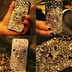 Leopard Handmade Hard Case For Iphone 4/4s/5. #ShopSimple