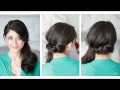 twisted side pony... totally gonna do this for work!!!