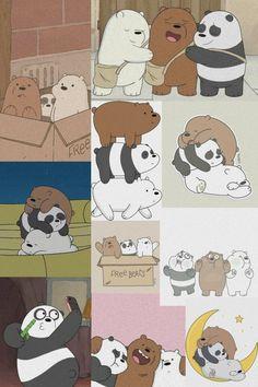 Cute Panda Wallpaper, Cartoon Wallpaper Iphone, Cute Wallpaper For Phone, Cute Disney Wallpaper, We Bare Bears Wallpapers, Panda Wallpapers, Cute Cartoon Wallpapers, Goth Wallpaper, Bear Wallpaper
