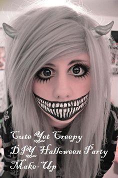 Cute Yet Creepy DIY Halloween Party Make-Up