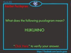 Puzzle : Rebus puzzle : Puzzlogram