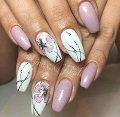 50 beautiful floral nail designs for spring - Page 13 of 50 - Nail Ar . - 50 beautiful floral nail designs for spring – Page 13 of 50 – Nail Art Design – - Nail Designs Spring, Cute Nail Designs, Nail Designs Floral, Floral Design, Spring Nails, Summer Nails, Nail Art For Spring, Cute Nails, Pretty Nails