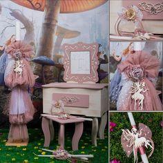 Πακέτο #κουμπάρου σχεδιασμενο σύμφωνα με το #concept της #βάπτισης #fairies-Always #happy to #work with #flowers and #decoration and give unic #style to #weddings #baptisms #christening #party #birtdays and every #event - Concept Stylist #Μάνθα_Μάντζιου & Floral Artist #Ντίνος_Μαβίδης
