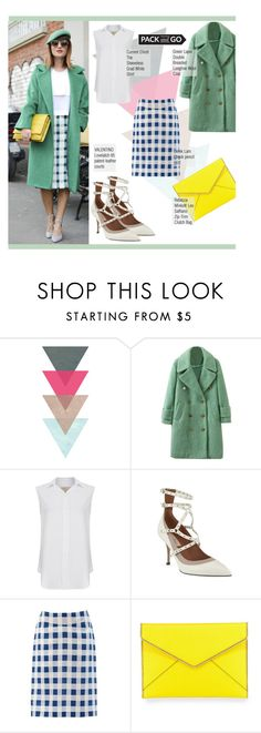 """""""Pack And Go"""" by selangel ❤ liked on Polyvore featuring WithChic, Current/Elliott, Valentino, Derek Lam, Rebecca Minkoff, women's clothing, women, female, woman and misses"""