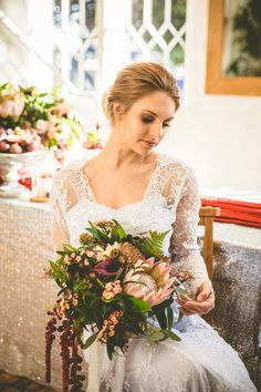 Floral Wedding Inspiration in Sumptuous Shades of Winter | Love My Dress® UK Wedding Blog