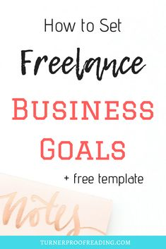 Set business goals that you will actually achieve (+ FREE goal setting template! Business Goals, Business Tips, Online Business, Business Coaching, Business Women, Will Turner, Smart Goal Setting, Setting Goals, Goal Setting Template