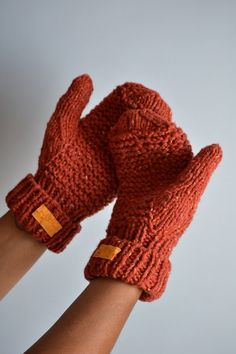 Chunky cashmere mittens chase the chill away.
