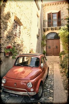 Fiat 500 in Sicily Fiat Cinquecento, Fiat 500c, Fiat Abarth, Toscana, My Dream Car, Dream Cars, Fiat Cars, Sicily Italy, Cute Cars