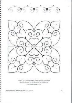 Resultado de imagen de affairs of the heart quilt pattern Hand Quilting Designs, Machine Quilting Patterns, Quilting Stencils, Quilting Templates, Stencil Patterns, Applique Patterns, Longarm Quilting, Free Motion Quilting, Applique Quilts
