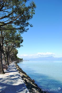 Sunny day at Garda lake - Moon and Memories: Tuesday's lunch break