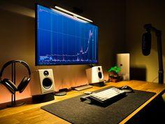 Computer Setup, Desk Setup, Home Office Setup, Home Office Desks, Home Studio Desk, Hobby Desk, Bedroom Setup, Cool Desktop, Workspace Inspiration