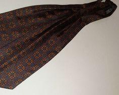 ASCOT CRAVAT 100% Silk Blue/Beige/Burgundy Color L51 W6.3    Clothing, Shoes & Accessories, Men's Accessories, Ties   eBay!