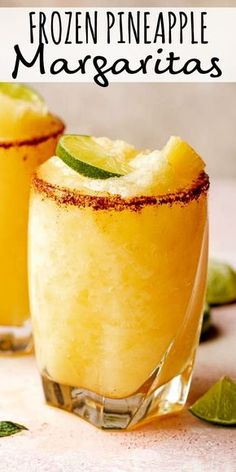 This frozen pineapple margarita is the perfect frozen drink for a warm afternoon! its tropical and sweet with a kick from the spicy chili salt rim margaritas pineapple cocktails cincodemayo soft and chewy sourdough burger buns Pineapple Margarita, Frozen Pineapple, Pineapple Recipes, Pineapple Cocktail, Pineapple Rum, Mixed Drinks With Tequila, Pineapple Alcohol Drinks, Slushy Alcohol Drinks, Wine Mixed Drinks