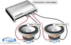 subwoofer wiring   What is the best amp for these subwoofers? - Yahoo! Answers