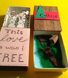 The secret lives of matchboxes: make your own matchbox craft, details at Wanders and Spills blog (just click the picture!)