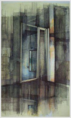 Megan McGlynn architectural drawing, pen and ink