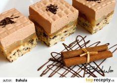 Kropenaté řezy recept - TopRecepty.cz Cake Bars, Tiramisu, Sweet Tooth, Cheesecake, Dessert Recipes, Treats, Baking, Ethnic Recipes, Food
