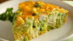 The whole family will enjoy this savory pie. Loaded with chicken and cheese, it's a great way to serve broccoli!
