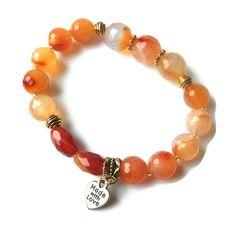 Faceted Carnelian Vintage Gold Bohemian Bracelets by BeDazzlingMoi Bohemian Bracelets, Handmade Bracelets, Beaded Bracelets, Orange Stone, Vintage Bohemian, Carnelian, Special Occasion, Gemstones, Crystals