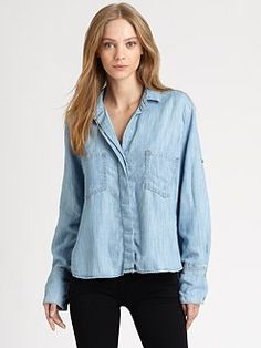Bella Dahl - Split-Back Chambray Shirt