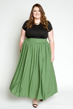 Plus Size Clothing for Women - Margarita Maxi Skirt with Pockets (Sizes 14 - 28) - Society+ - Society Plus - Buy Online Now!