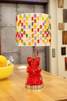 Gummy bear!!!!!!! TheQueenLillian : the iCarly set is in the background :D
