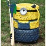Garden-Minion- tyre planter3