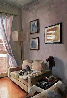 'Interior I' oil on panel 21x30 cm 2009 by olechko