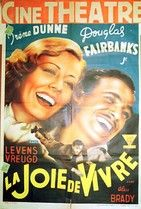 French movie poster - Joy of Living with Irene Dunne and Douglas Fairbanks, Jr.