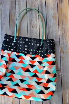 How to Sew a Pleated Tote Free Tutorial - Michael Miller Fabric