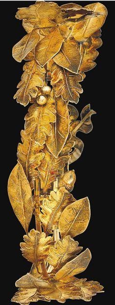 Frivolous Fabulous - Silver Gilt Wreath Tiara Designed as a Laurel 1800 Paris France