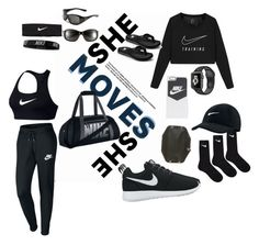 """""""Nike gym outfit"""" by mary2003 ❤ liked on Polyvore featuring NIKE"""